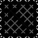 Diagonal up left arrow Icon