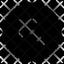 Diagonal Up Left Icon