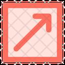 Diagonal Up Right Icon