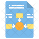 File Center Diagram Flowchart Icon