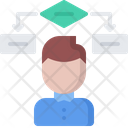 Block Diagram Man Icon
