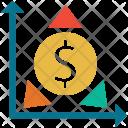 Diagram Dollar Ecommerce Icon
