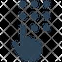 Dial Enter Hand Icon