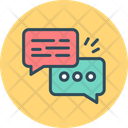 Dialog Communication Study Icon