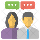People Communicating Dialogue Icon