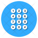 Phone Number Keypad Keyboard Icon