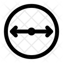 Diameter Circle Geometry Icon