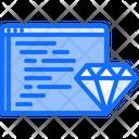 Diamond Clean Code Icon