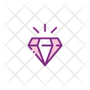 Diamond Ruby Stone Icon