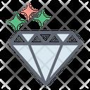 Diamond Crystal Carbon Alloy Icon