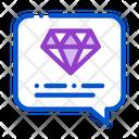 Diamond Stone Quote Icon