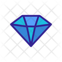 Diamonds Contour Azure Icon