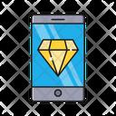 Diamond Mobile Gem Icon