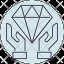 Business Diamond Hand Icon