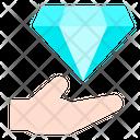 Hand Diamond Finance Icon