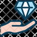Diamond Investment Hand Icon
