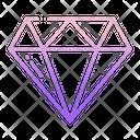 Diamond Gemstone Crystal Icon