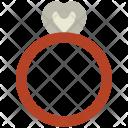 Diamond Ring Heart Icon