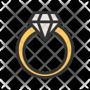 Diamond Ring Engagement Icon