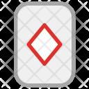 Diamond Gambling Card Icon