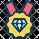 Diamond Badge Premium Badge Icon