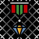 Diamond Jewel Insignia Icon