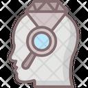 C Brilliant Diamond Brain Head Diamond Icon