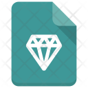 Diamond File Document Icon