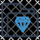 Diamond Folder Archive Icon