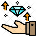 Growth Daimond Hand Icon