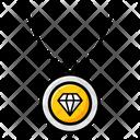 Diamond Pendant Necklace Ladies Ornaments Icon
