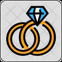 Valentine Day Diamond Ring Icon