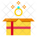 Diamond Ring Gift Box Celebration Icon