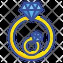 Diamond Ring Ring Jewelry Icon