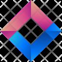 Diamond Logogram Shape Icon