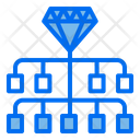 Diamond Organization Investment Icon