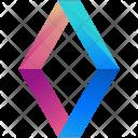 Diamonds Logogram Shape Icon