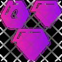 Valentine Day Diamond Emerald Icon