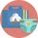Baby Diaper Diaper Bag Icon