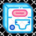 Diaper Set Design Icon