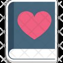 Diary Heart Sign Love Icon