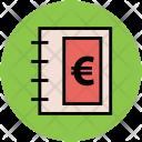 Diary Euro Sign Icon
