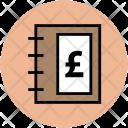 Diary Pound Sign Icon