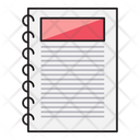 Diary Notebook Binder Icon