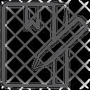 Notepad Drafting Pad Drawing Pad Icon