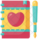 Diary Love Wedding Planner Icon