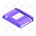 Notebook Textbook Drafting Pad Icon