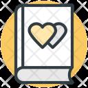 Diary Hearts Sign Icon