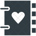 Diary Heart Sign Icon