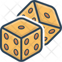 Dice Game Fun Icon
